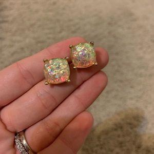 Iridescent knock off Kate Spade stud earrings!